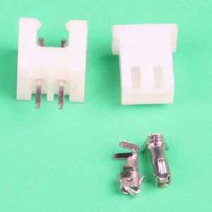 100 SETS JST 2.0mm PH 2-Pin Male , Female housing Connector with Crimps