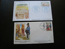 FRANCE - 2 enveloppes 1er jour 1970/1984 (journee timbre/unesco) (cy61) french