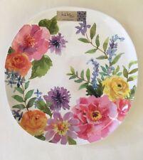 Pink Dinner Plates Nicole Miller Spring Floral Set Of 4  Melamine New
