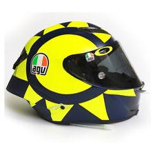 Signed Valentino Rossi Helmet AGV Soleluna GP R Carbon Pista - 2018 MotoGP
