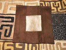 African Art Tribal Handmade cushion cover Kudu buck animal hide leather furr