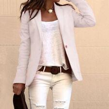 Women Long Sleeve Blazer Suit Coat Work Jacket Formal Business OL Outwear Tops