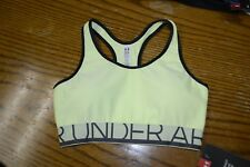Under Armour Sports Bra  - Bright Yellow - NEW w/Tags - Size XS