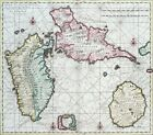 Reproduction carte ancienne - Guadeloupe 1790
