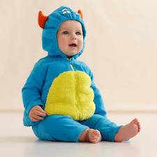 BNWT CARTERS BABY BLUE MONSTER FLEECE DRESSING UP FANCY DRESS 12 MONTHS