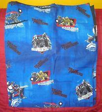 Transformers Dark Blue Full Double Size Flat Sheet Cutter Fabric Franco Mfg