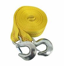 "2"" x 20' ft. Tow Strap with Hooks Heavy Duty Towing Hitch Auto Truck Tie Down To"