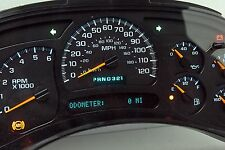 LIGHT BLUE LED 05 Chevy Silverado Sierra REMAN Instrument Panel Cluster $50 Back