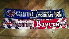 Sciarpe Fiorentina ultras celebrative contro Lione e Bayern Monaco