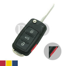 Flip Remote Key Shell fit for VOLKSWAGEN VW Golf Touareg 4 Button 3 BTN + Panic