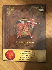 Advanced D&D Monster Manual Premium Gary Gygax Memorial Edition New Sealed!