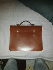 1940s Vintage Leather book bag great Condition