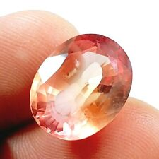 EGL Certified Oval Cut Natural Padparadscha 10.75 Ct Sapphire Loose Gemstone