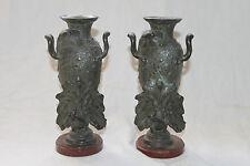 Paire de vase en étain art nouveau.