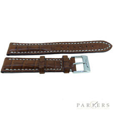 GENUINE BREITLING BROWN CROCODILE LEATHER WATCH STRAP 15-14MM