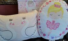 Twin BELLA LUX  BALLERINA Quilt Sham Pillows & Sheet Set 7PC BALLET SWAN DANCE