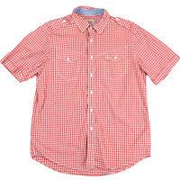 R.M. Williams Men's Short Sleeve Cotton Shirt Red Check Rough Wash Sz L Classic