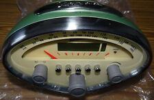 Vespa Speedometer Radiowecker Retro, Piaggio, grün, Batterien, NEU