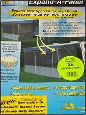 2' EXPAND PANEL FOR AN AWNING SCREEN ROOM, RV, CAMPER WITH EASY ZIPPERS