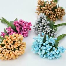12/Bouquet Artificial Flower Stamen Wire Stem/Marriage DIY Wreath Wedding S1Y1
