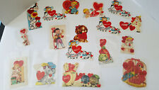 Vintage Lot 18 of Assorted Unused Valentine Cards Circa 1940's Onward