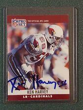 1990 Pro Set Ken Harvey Autographed Card - Cardinals - COA