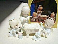 Precious Moments Prepare Ye The Way Of The Lord E-0508 6pc Nativity Set in Box