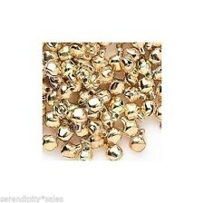LOT 500 Metal JINGLE BELLS ~ GOLD Color ~ Beads Drops Charms Small 6mm with Loop