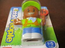 Fisher Price Little People Crossing Guard Stop sign Shool Bus AA man NEW helper