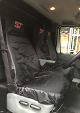 ST Van Seat Covers Protectors 2+1 100% WATERPROOF Black -  Fits Ford Transit MK7