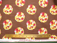 Tula Pink METEOR Birds & the Bees Cinnamon Modern Geometric Quilt Fabric NEW OOP