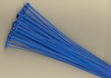 "100 8"" Inch Long 40# Pound BLUE Nylon Cable Zip Ties Ty Wraps MADE IN THE USA"