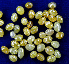 Natural Loose Diamond Long Drilling Egg Shape Yellow Color I3 Clarity 1.00Ct Q41
