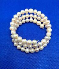 Genuine pearl wind on bracelet,pre owned