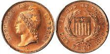 LIBERIA , COPPER PATTERN PROOF 1 CENT 1890 PCGS PR 64 RB - TOP POP , RARE