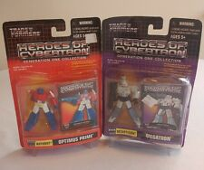 (2) Transformers Heroes of Cybertron Gen 1 - Optimus & Megatron (Box Damage)