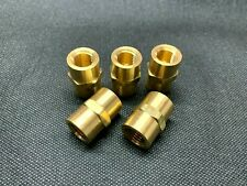 (5) Solid Brass Hex Pipe Coupling 1/4