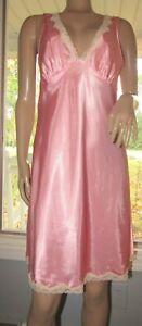 Victoria's Secret Pink Polyester Slippery Babydoll Nightie Chemise Sz S