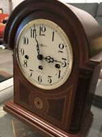 Howard Miller 613-180 Barrister Mantel Clock w/ Westminster Chimes with Key