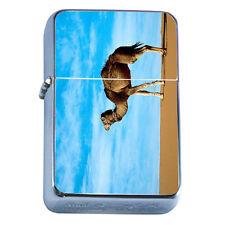 Windproof Refillable Flip Top Oil Lighter Camel D1 Hump Back Desert Animal