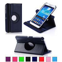 360 Rotating Cover Case For Samsung Tablets PU Leather Stand Folio Flip