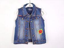 DISNEY Girls Denim Embellish Embroidery Sleeveless Jacket Gilet age 6 yrs BC22