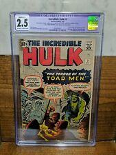 INCREDIBLE HULK #2 (7/62) Lee Kirby Ditko 1st Green Hulk KEY CGC Restored 2.5