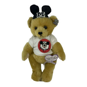 """Annette Funicello Disney Mousekebear  Mickey Mouse Club Shirt LE 10"""" Bear"""