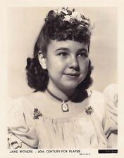 JANE WITHERS Child Star Original Vintage 1930s 20th Fox Studio Portrait Photo