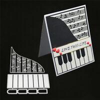 Stanzschablone Klavier Musik Hochzeit Weihnachten Geburtstag Oster Karte Album