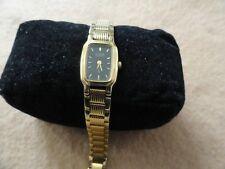 Citizen Quartz Ladies Watch - Gold with a Black Dial