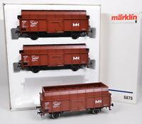 """3-tlg. Märklin 5875 Wagen-Set """"Max-Hütte"""" der DB / FP / Metall-RS / unbespielt"""