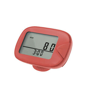 CR-873 LCD Walking Pedometer Multi-functional Step Counter with Clip Step X5W4