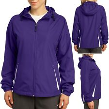 Ladies Plus Size Jacket with Hood 2 Tone Water Repellent Womens Coat XL 2X 3X 4X